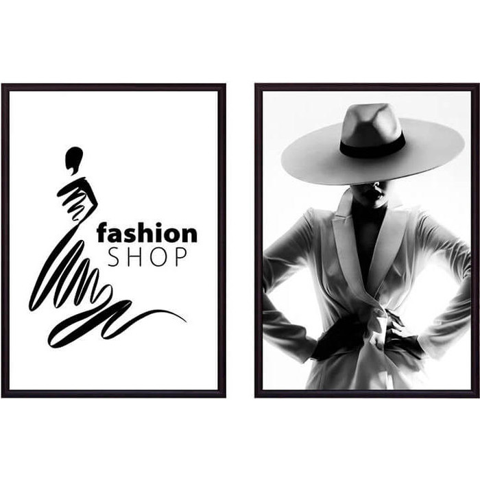 Набор из 2-х постеров Дом Корлеоне Коллаж Fashion №4 30х40 см 2 шт.