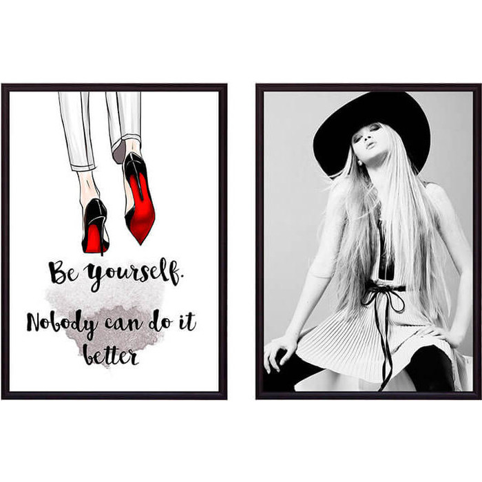 Набор из 2-х постеров Дом Корлеоне Коллаж Fashion №42 40х60 см 2 шт.
