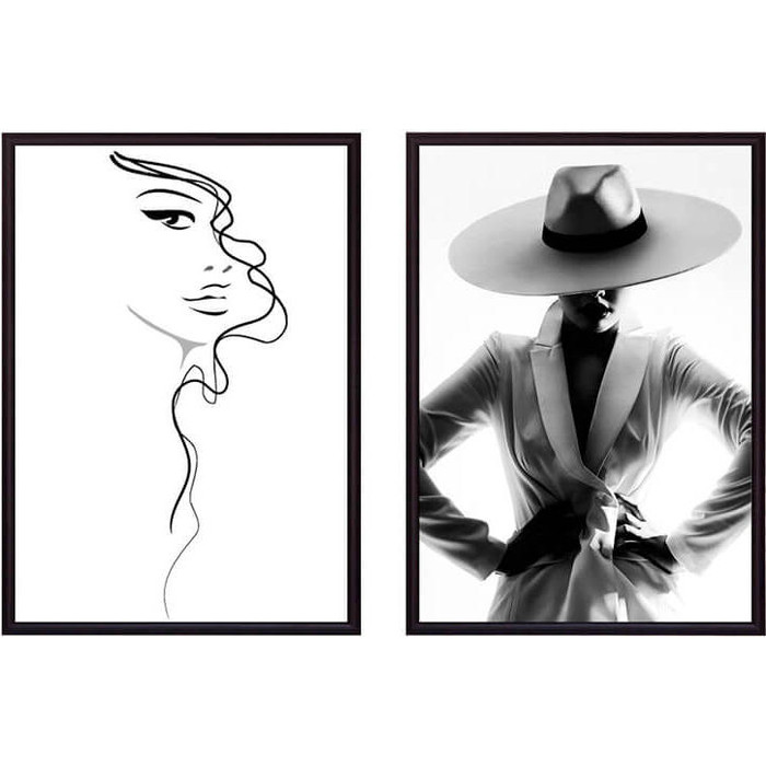 Набор из 2-х постеров Дом Корлеоне Коллаж Fashion №5 40х60 см 2 шт.