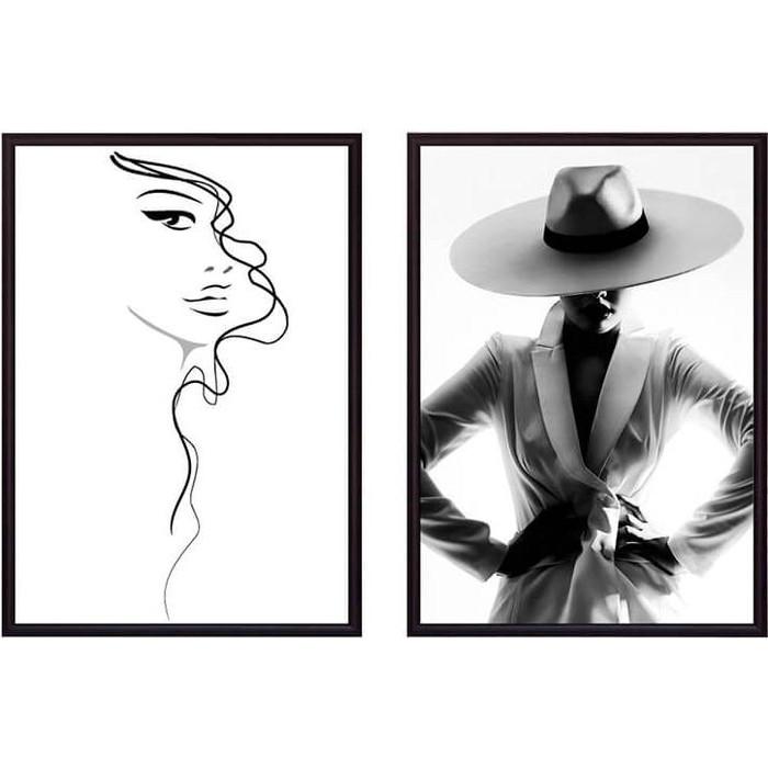 Набор из 2-х постеров Дом Корлеоне Коллаж Fashion №5 50х70 см 2 шт.