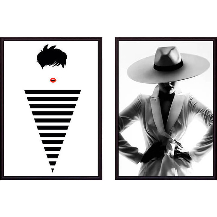 Набор из 2-х постеров Дом Корлеоне Коллаж Fashion №6 40х60 см 2 шт.