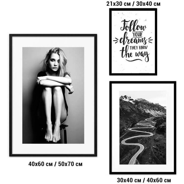 Набор из 3-х постеров Дом Корлеоне Коллаж Fashion №79 21х30 см 1 шт., 30х40 40х60 1шт.