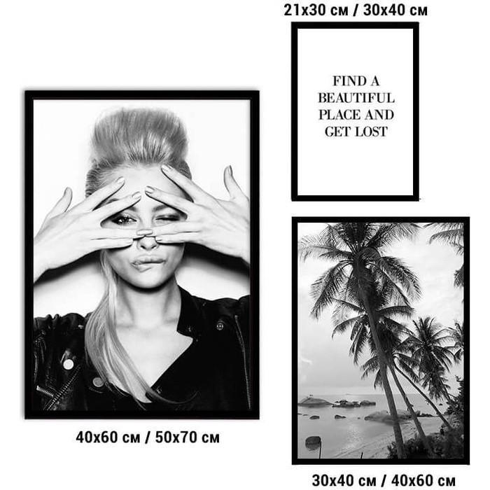 Набор из 3-х постеров Дом Корлеоне Коллаж Fashion №80 21х30 см 1 шт., 30х40 40х60 1шт.