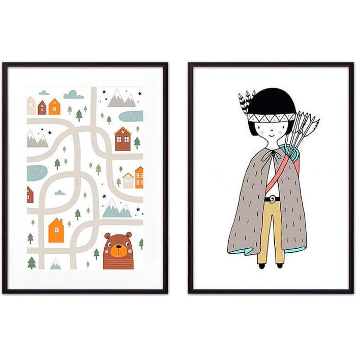 Набор из 2-х постеров Дом Корлеоне Коллаж Детский №1 21х30 см 2 шт.
