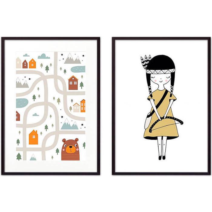 Набор из 2-х постеров Дом Корлеоне Коллаж Детский №33 50х70 см 2 шт. набор из 2 х постеров дом корлеоне коллаж детский 22 50х70 см 2 шт