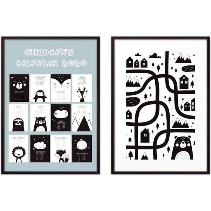 Набор из 2-х постеров Дом Корлеоне Коллаж Детский №37 50х70 см 2 шт.