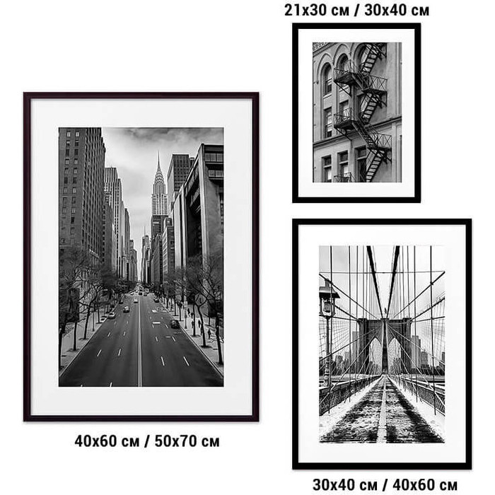 Набор из 3-х постеров Дом Корлеоне Коллаж Нью-Йорк №28 30х40 см 1 шт., 40х60 50х70 1шт.