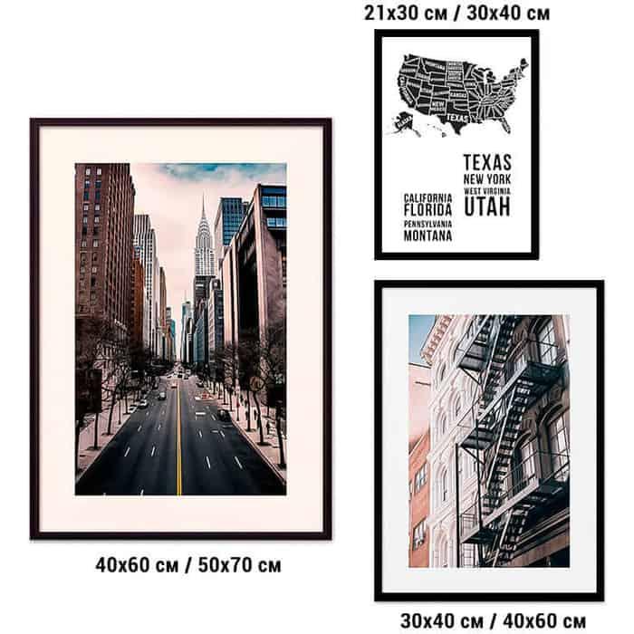Набор из 3-х постеров Дом Корлеоне Коллаж Нью-Йорк №33 21х30 см 1 шт., 30х40 40х60 1шт.