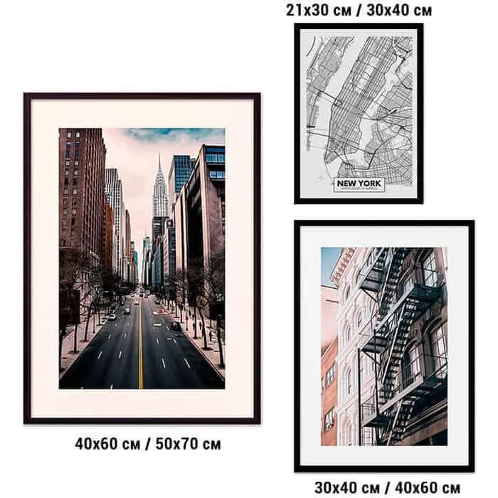 Набор из 3-х постеров Дом Корлеоне Коллаж Нью-Йорк №34 30х40 см 1 шт., 40х60 50х70 1шт.
