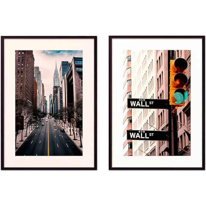 Набор из 2-х постеров Дом Корлеоне Коллаж Нью-Йорк №7 21х30 см 2 шт.