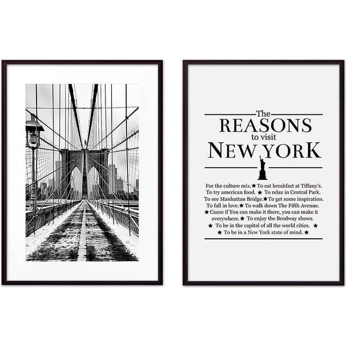 Набор из 2-х постеров Дом Корлеоне Коллаж Нью-Йорк №8 40х60 см 2 шт.