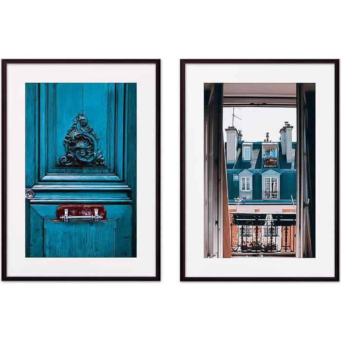 Набор из 2-х постеров Дом Корлеоне Коллаж Париж №10 21х30 см 2 шт.