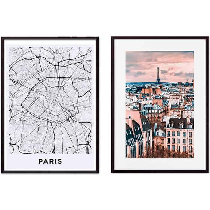 Набор из 2-х постеров Дом Корлеоне Коллаж Париж №13 40х60 см 2 шт.
