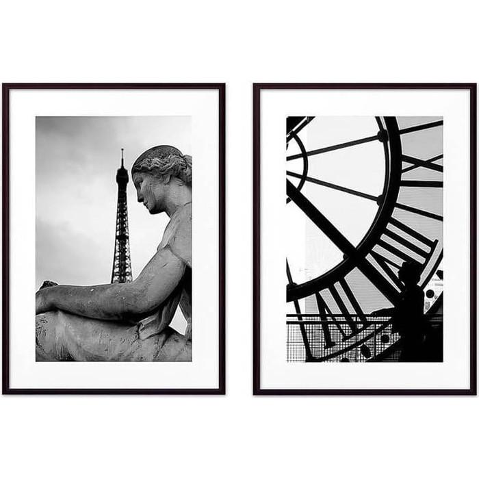 Набор из 2-х постеров Дом Корлеоне Коллаж Париж №15 30х40 см 2 шт.
