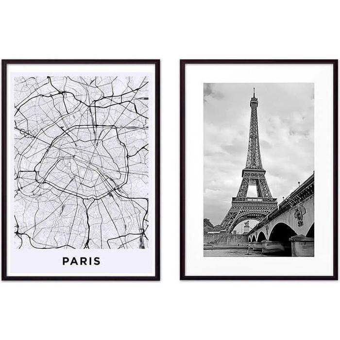 Набор из 2-х постеров Дом Корлеоне Коллаж Париж №16 21х30 см 2 шт.