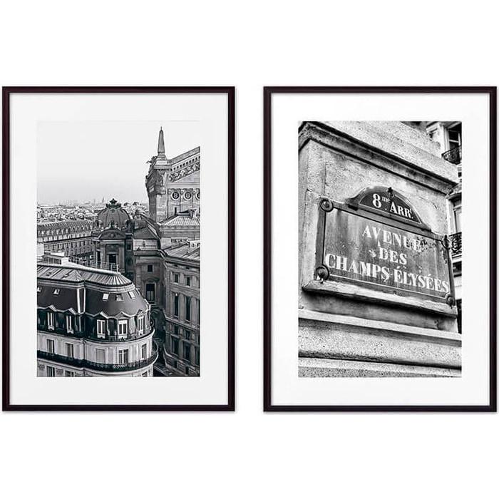 Набор из 2-х постеров Дом Корлеоне Коллаж Париж №19 21х30 см 2 шт.