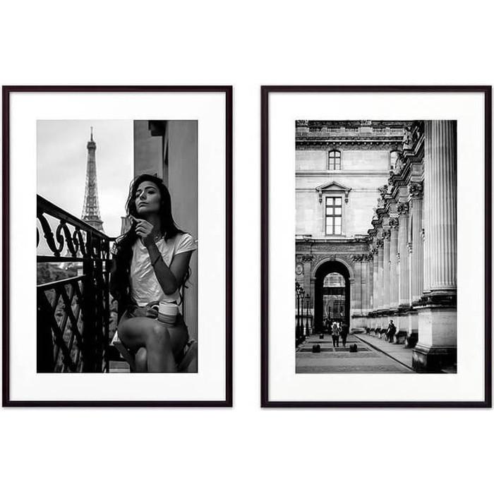 Набор из 2-х постеров Дом Корлеоне Коллаж Париж №2 21х30 см 2 шт.