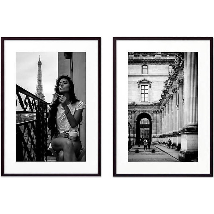 Набор из 2-х постеров Дом Корлеоне Коллаж Париж №2 50х70 см 2 шт.