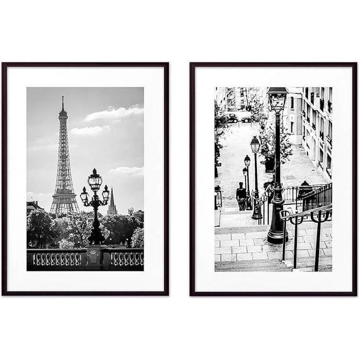 Набор из 2-х постеров Дом Корлеоне Коллаж Париж №20 30х40 см 2 шт.