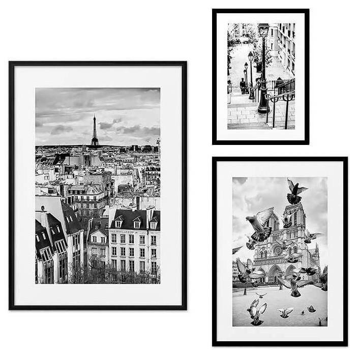 Набор из 3-х постеров Дом Корлеоне Коллаж Париж №21 30х40 см 1 шт., 40х60 50х70 1шт.
