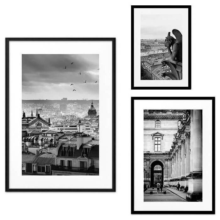 Набор из 3-х постеров Дом Корлеоне Коллаж Париж №22 30х40 см 1 шт., 40х60 50х70 1шт.