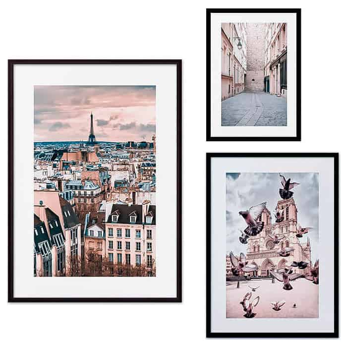 Набор из 3-х постеров Дом Корлеоне Коллаж Париж №23 30х40 см 1 шт., 40х60 50х70 1шт.
