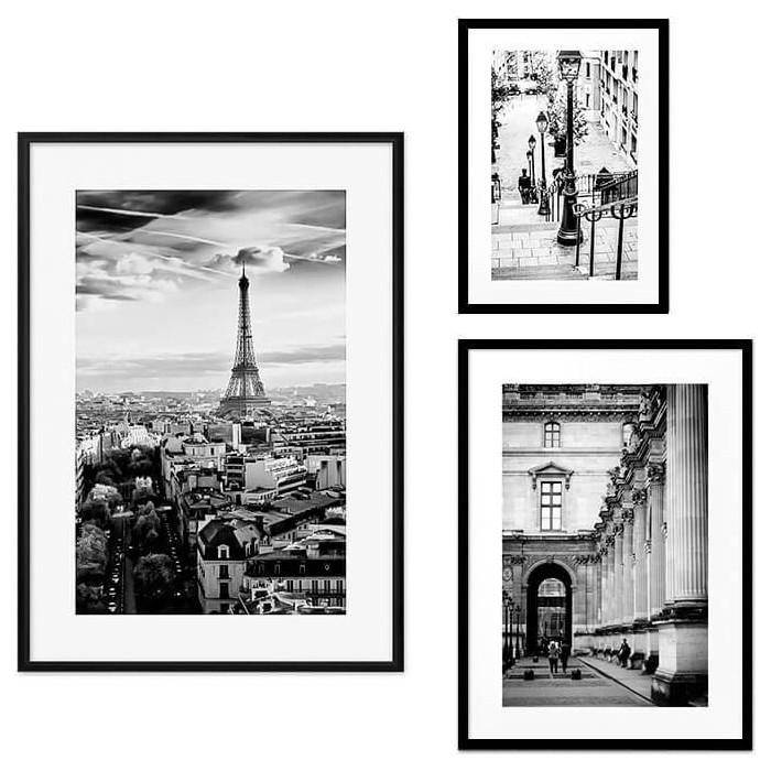 Набор из 3-х постеров Дом Корлеоне Коллаж Париж №24 30х40 см 1 шт., 40х60 50х70 1шт.