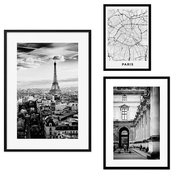 Набор из 3-х постеров Дом Корлеоне Коллаж Париж №25 30х40 см 1 шт., 40х60 50х70 1шт.