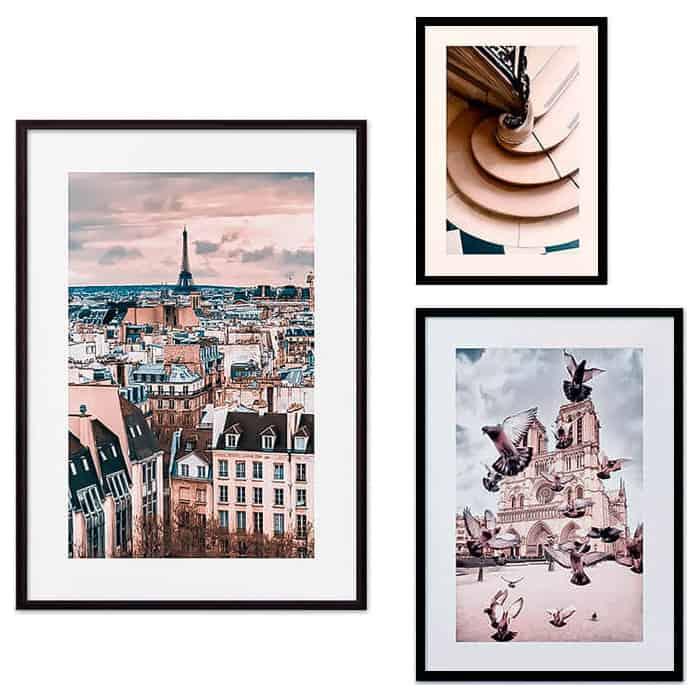 Набор из 3-х постеров Дом Корлеоне Коллаж Париж №26 21х30 см 1 шт., 30х40 см 1 шт., 40х60 см 1шт.