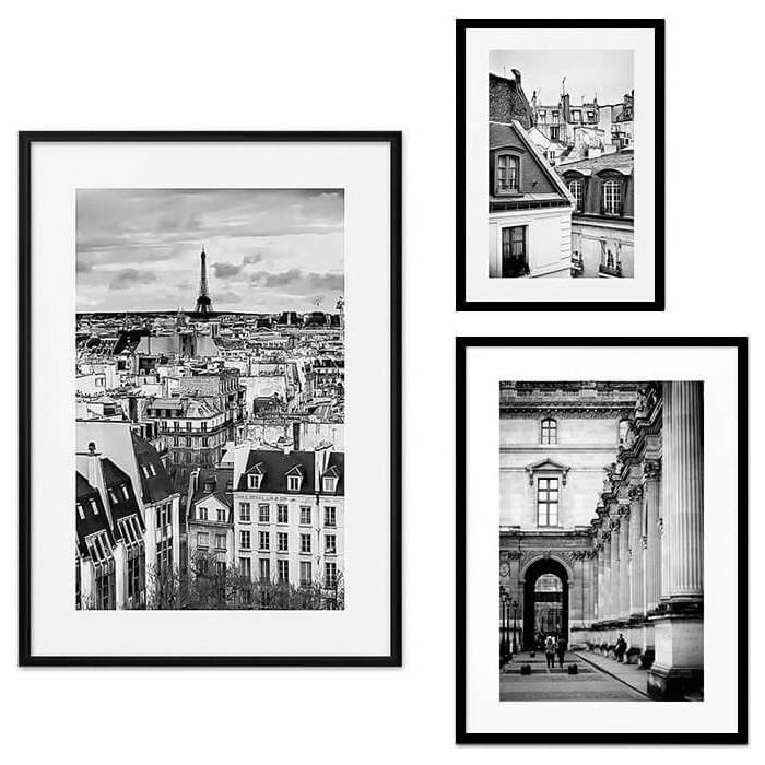 Набор из 3-х постеров Дом Корлеоне Коллаж Париж №30 21х30 см 1 шт., 30х40 см 1 шт., 40х60 см 1шт.