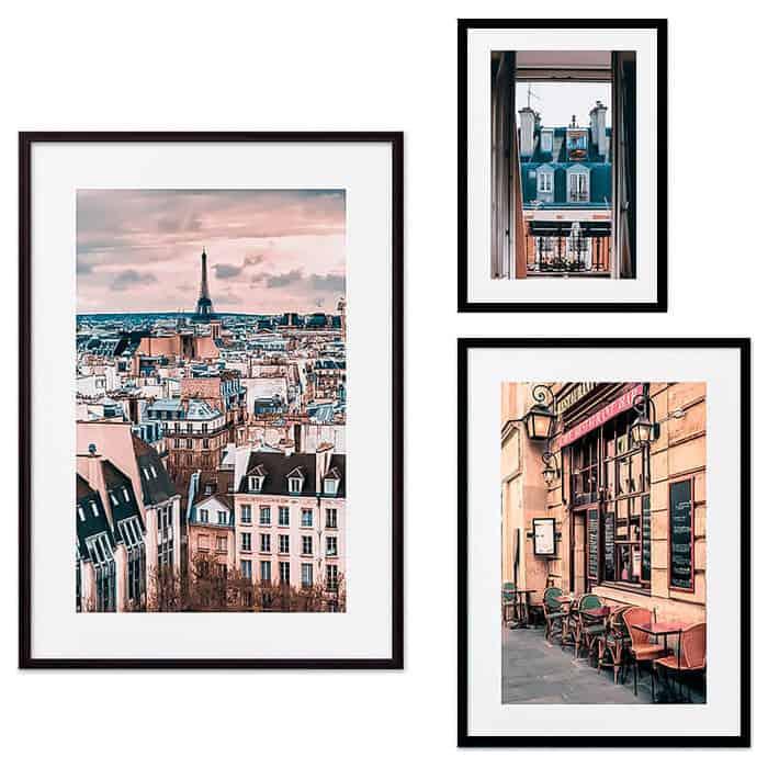Набор из 3-х постеров Дом Корлеоне Коллаж Париж №31 30х40 см 1 шт., 40х60 50х70 1шт.