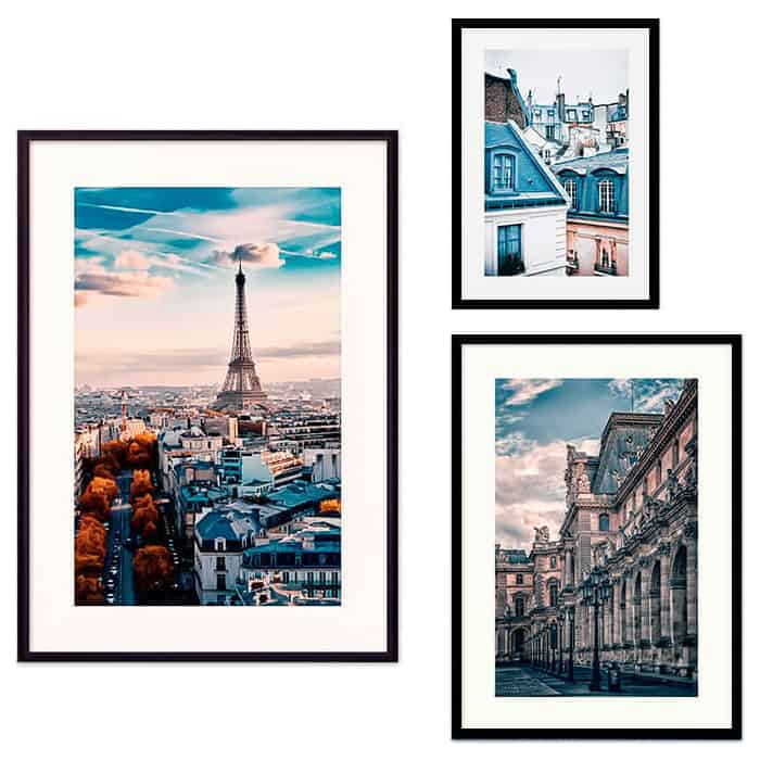 Набор из 3-х постеров Дом Корлеоне Коллаж Париж №32 21х30 см 1 шт., 30х40 40х60 1шт.