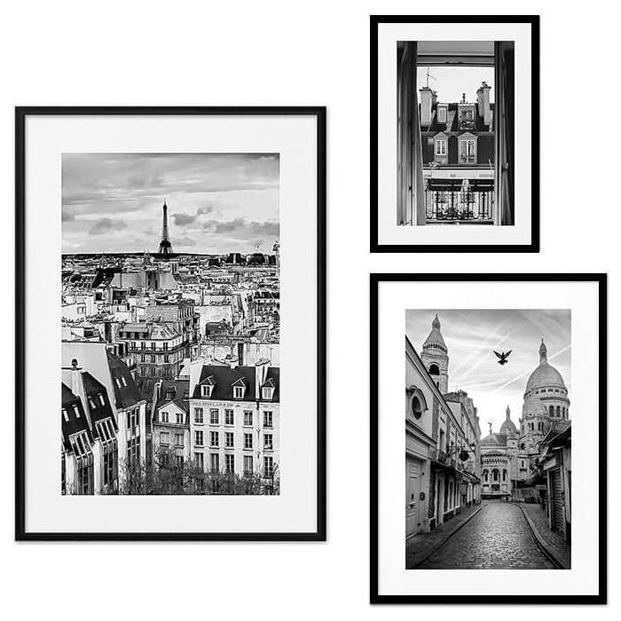 Набор из 3-х постеров Дом Корлеоне Коллаж Париж №33 30х40 см 1 шт., 40х60 50х70 1шт.