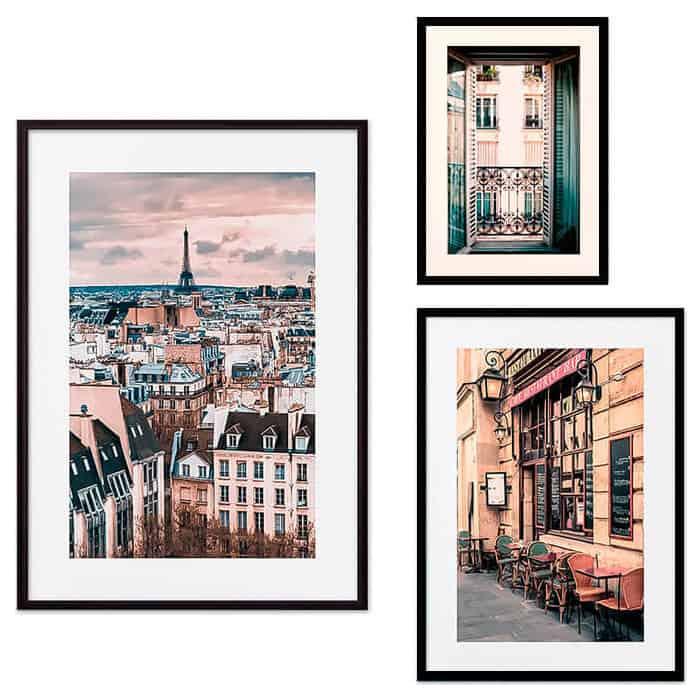 Набор из 3-х постеров Дом Корлеоне Коллаж Париж №35 21х30 см 1 шт., 30х40 см 1 шт., 40х60 см 1шт.