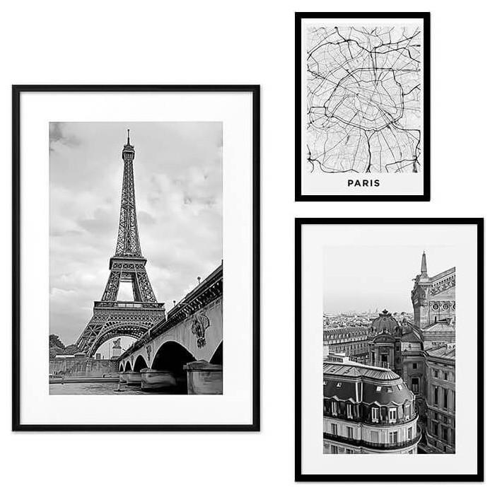 Набор из 3-х постеров Дом Корлеоне Коллаж Париж №36 21х30 см 1 шт., 30х40 см 1 шт., 40х60 см 1шт.