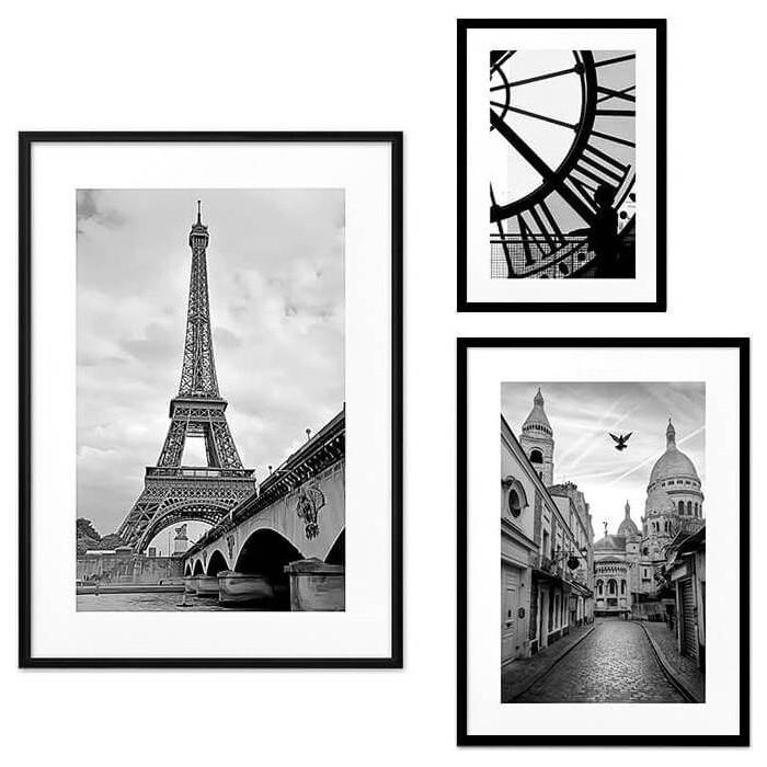 Набор из 3-х постеров Дом Корлеоне Коллаж Париж №44 21х30 см 1 шт., 30х40 см 1 шт., 40х60 см 1шт.