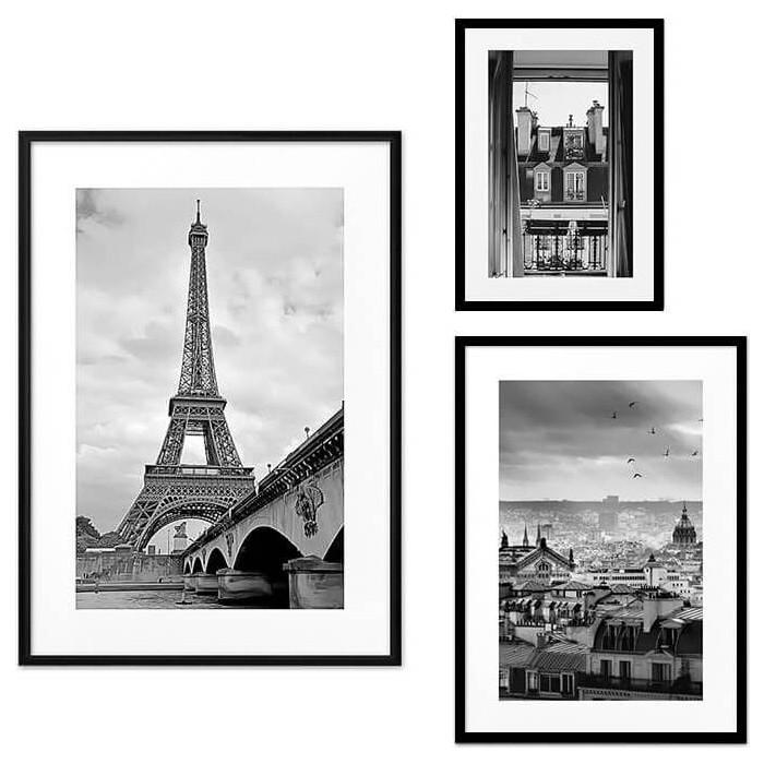 Набор из 3-х постеров Дом Корлеоне Коллаж Париж №48 21х30 см 1 шт., 30х40 см 1 шт., 40х60 см 1шт.
