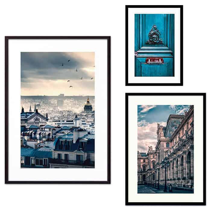 Набор из 3-х постеров Дом Корлеоне Коллаж Париж №49 21х30 см 1 шт., 30х40 см 1 шт., 40х60 см 1шт.