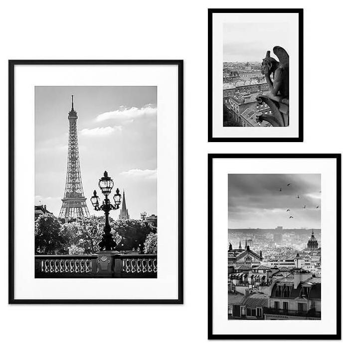 Набор из 3-х постеров Дом Корлеоне Коллаж Париж №51 21х30 см 1 шт., 30х40 см 1 шт., 40х60 см 1шт.