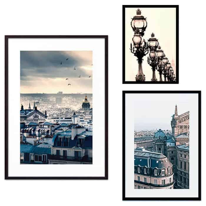 Набор из 3-х постеров Дом Корлеоне Коллаж Париж №52 21х30 см 1 шт., 30х40 см 1 шт., 40х60 см 1шт.