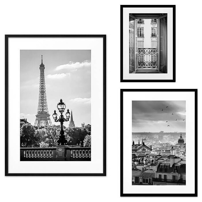 Набор из 3-х постеров Дом Корлеоне Коллаж Париж №53 21х30 см 1 шт., 30х40 см 1 шт., 40х60 см 1шт.