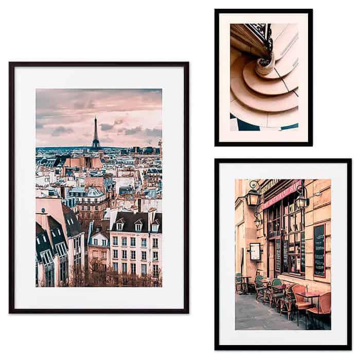 Набор из 3-х постеров Дом Корлеоне Коллаж Париж №55 21х30 см 1 шт., 30х40 см 1 шт., 40х60 см 1шт.