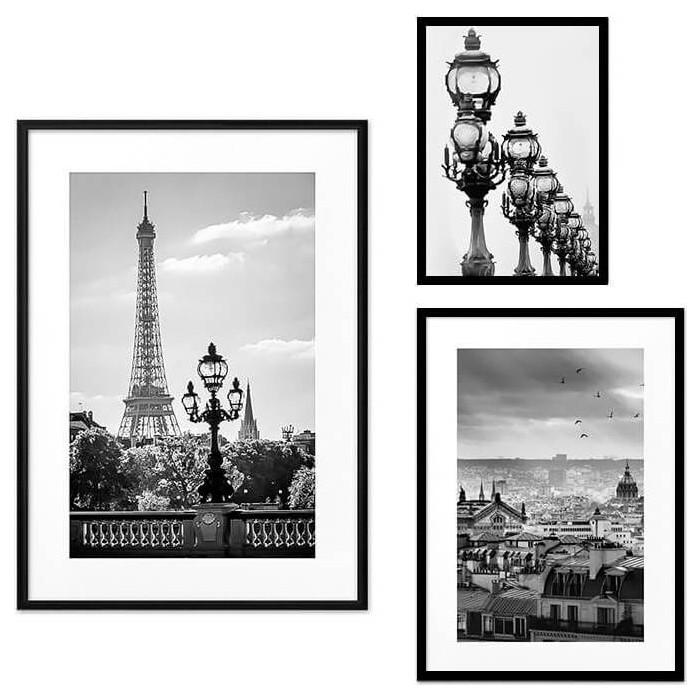 Набор из 3-х постеров Дом Корлеоне Коллаж Париж №56 21х30 см 1 шт., 30х40 см 1 шт., 40х60 см 1шт.