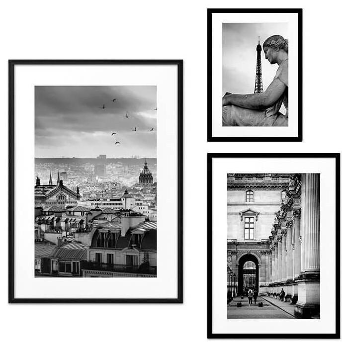 Набор из 3-х постеров Дом Корлеоне Коллаж Париж №59 21х30 см 1 шт., 30х40 см 1 шт., 40х60 см 1шт.