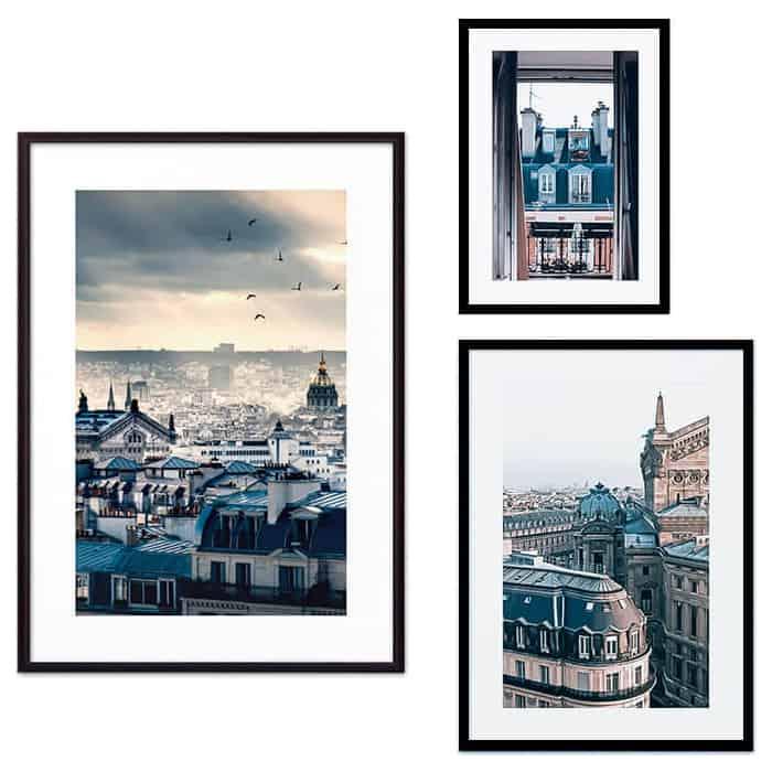 Набор из 3-х постеров Дом Корлеоне Коллаж Париж №60 21х30 см 1 шт., 30х40 см 1 шт., 40х60 см 1шт.