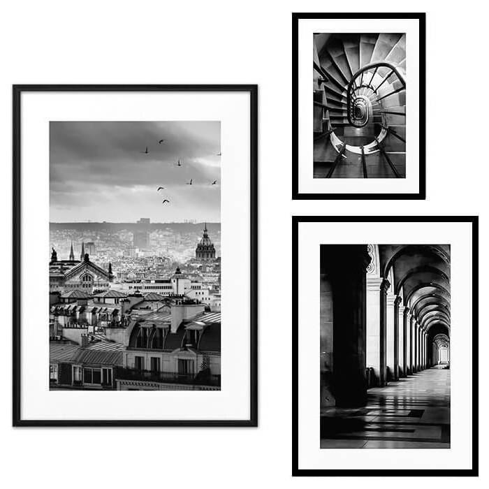 Набор из 3-х постеров Дом Корлеоне Коллаж Париж №61 30х40 см 1 шт., 40х60 50х70 1шт.