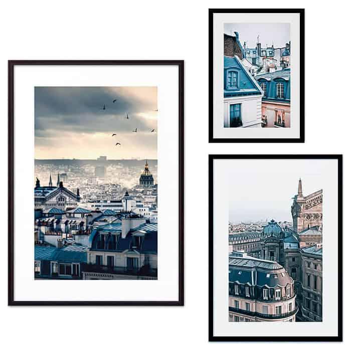 Набор из 3-х постеров Дом Корлеоне Коллаж Париж №63 21х30 см 1 шт., 30х40 см 1 шт., 40х60 см 1шт.