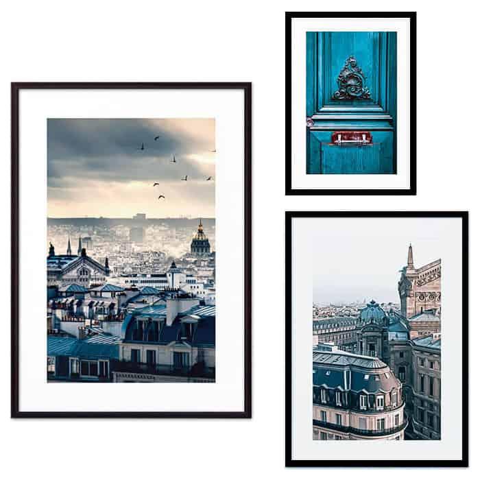 Набор из 3-х постеров Дом Корлеоне Коллаж Париж №66 21х30 см 1 шт., 30х40 см 1 шт., 40х60 см 1шт.