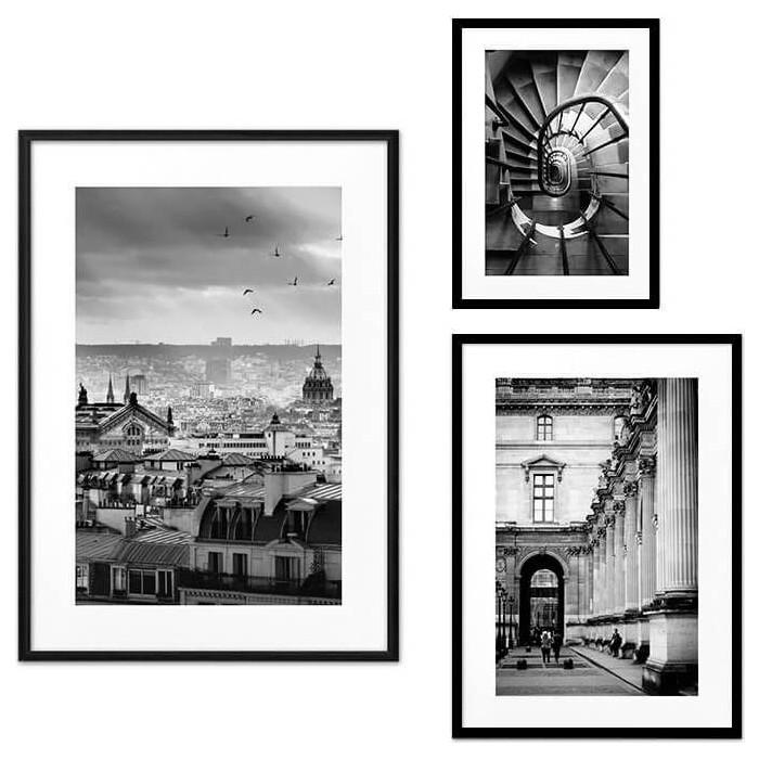 Набор из 3-х постеров Дом Корлеоне Коллаж Париж №70 21х30 см 1 шт., 30х40 40х60 1шт.