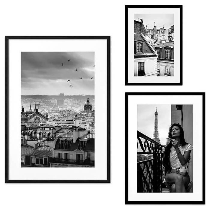 Набор из 3-х постеров Дом Корлеоне Коллаж Париж №71 21х30 см 1 шт., 30х40 см 1 шт., 40х60 см 1шт.